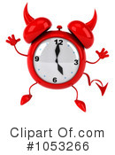 Royalty-Free (RF) Alarm Clock Clipart Illustration #1053266
