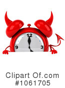 Royalty-Free (RF) Alarm Clock Clipart Illustration #1061705