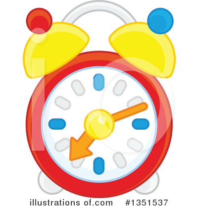 Alarm Clock Clipart #1351537 by Alex Bannykh
