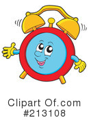 Royalty-Free (RF) Alarm Clock Clipart Illustration #213108
