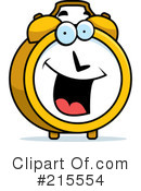 Royalty-Free (RF) Alarm Clock Clipart Illustration #215554