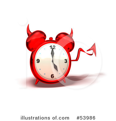 Royalty-Free (RF) Alarm Clock Clipart Illustration by Julos - Stock Sample #53986