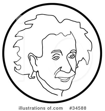 Albert Einstein Clipart #34588 - Illustration by C Charley-Franzwa