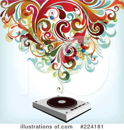 Record Player Clipart #224181 by OnFocusMedia