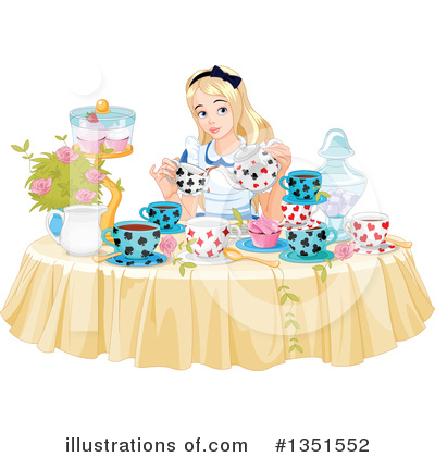 Alice In Wonderland Clipart #1351552 by Pushkin