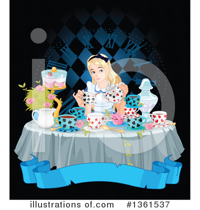 Alice In Wonderland Clipart #1361537 by Pushkin
