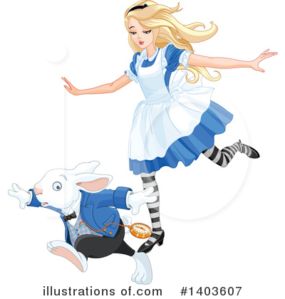 Alice In Wonderland Clipart #1403607 by Pushkin