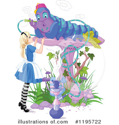 Alice In Wonderland Clipart #1195722 by Pushkin