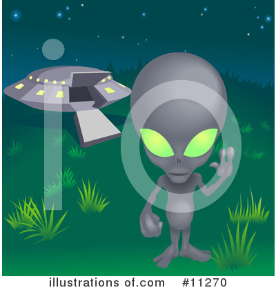 Alien Clipart #11270 by AtStockIllustration