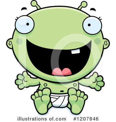 Royalty-Free (RF) Alien Clipart Illustration by Cory Thoman - Stock Sample #1207846