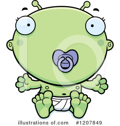Alien Clipart #1207849 by Cory Thoman