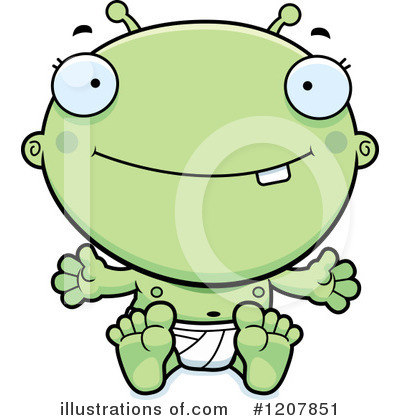 Alien Clipart #1207851 by Cory Thoman
