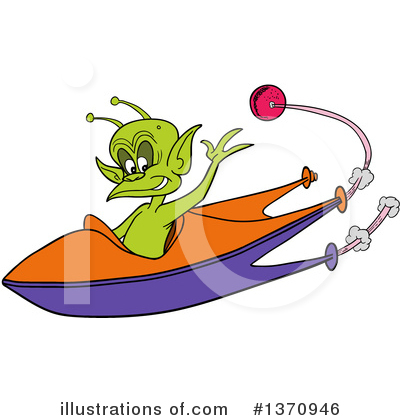 Alien Clipart #1370946 by LaffToon