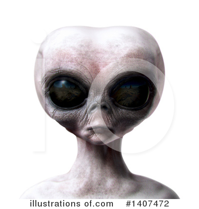 Alien Clipart #1407472 by Leo Blanchette