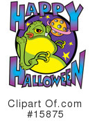 Royalty-Free (RF) Alien Clipart Illustration #15875
