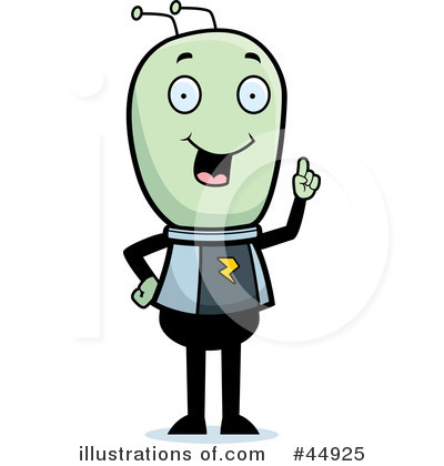 Alien Clipart #44925 by Cory Thoman