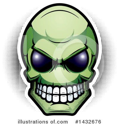 Skull Clipart #1432676 by Cory Thoman