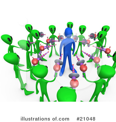 Royalty-Free (RF) Aliens Clipart Illustration by 3poD - Stock Sample #21048