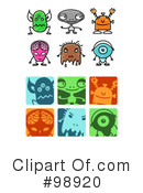 Royalty-Free (RF) aliens Clipart Illustration #98920