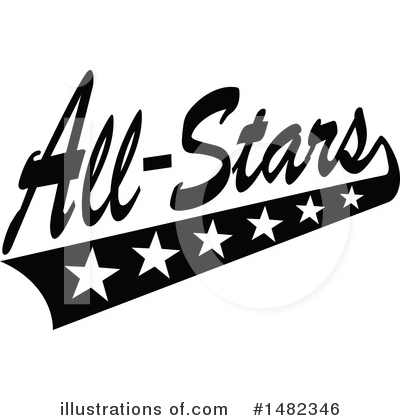 All Stars Clipart #1482346 - Illustration by Johnny Sajem