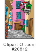 Royalty-Free (RF) Alley Clipart Illustration #20812