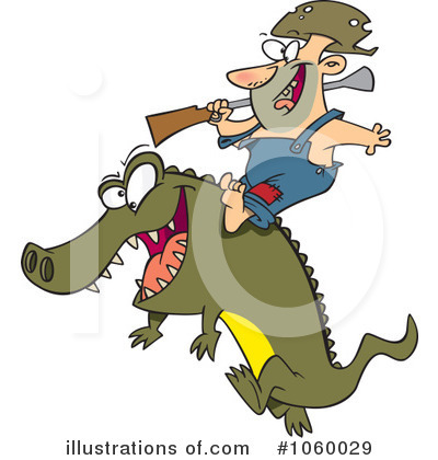 Alligator Clipart #1060029 by toonaday