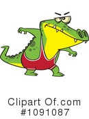 Royalty-Free (RF) Alligator Clipart Illustration #1091087