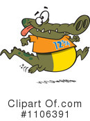 Royalty-Free (RF) Alligator Clipart Illustration #1106391