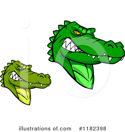 Alligator Clipart #1182398 by Vector Tradition SM