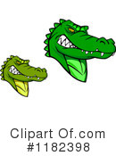 Royalty-Free (RF) alligator Clipart Illustration #1182398