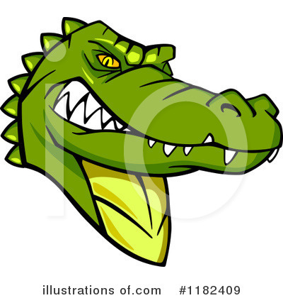 Crocodile Clipart #1182409 by Vector Tradition SM