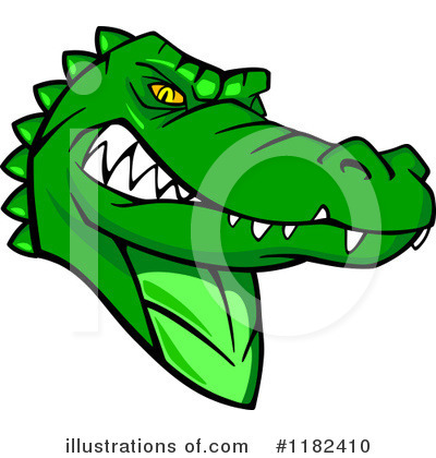 Crocodile Clipart #1182410 by Vector Tradition SM