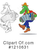 Royalty-Free (RF) Alligator Clipart Illustration #1210631