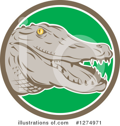 Alligator Clipart #1274971 by patrimonio