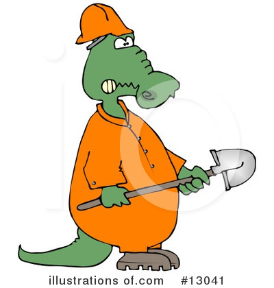 Alligator Clipart #13041 by djart