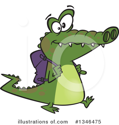 Alligator Clipart #1346475 by toonaday