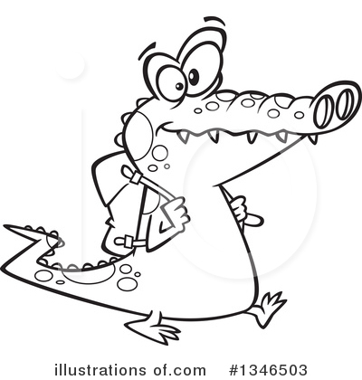 Alligator Clipart #1346503 by toonaday
