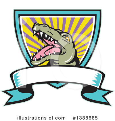 Crocodile Clipart #1388685 by patrimonio
