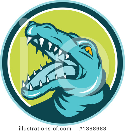 Crocodile Clipart #1388688 by patrimonio