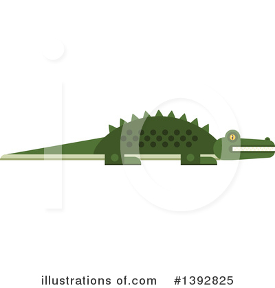 Crocodile Clipart #1392825 by Vector Tradition SM