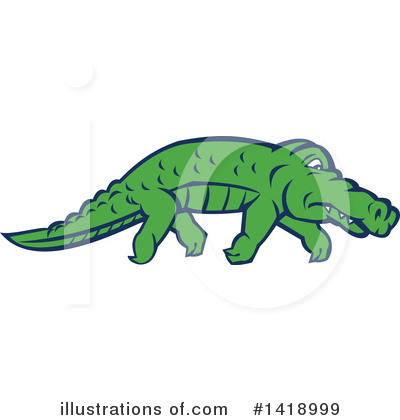 Alligator Clipart #1418999 by patrimonio