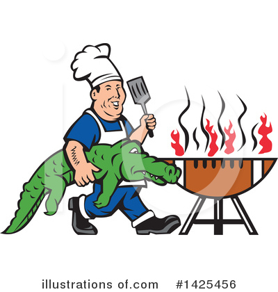 Alligator Clipart #1425456 by patrimonio
