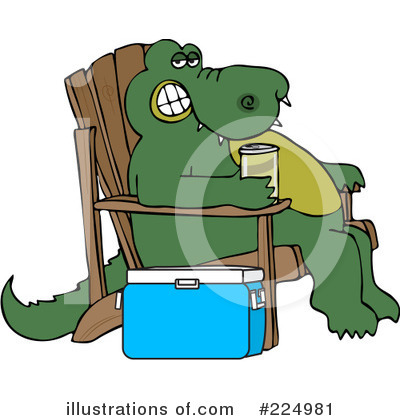 Alligator Clipart #224981 by djart