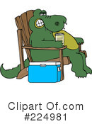 Royalty-Free (RF) alligator Clipart Illustration #224981