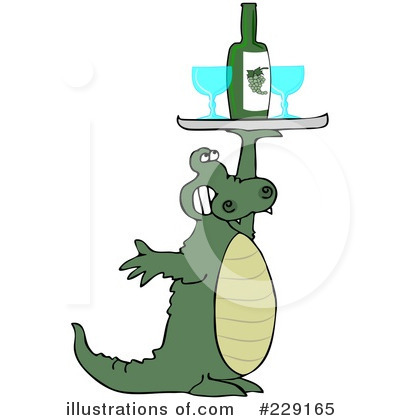 Royalty-Free (RF) Alligator Clipart Illustration by djart - Stock Sample #229165
