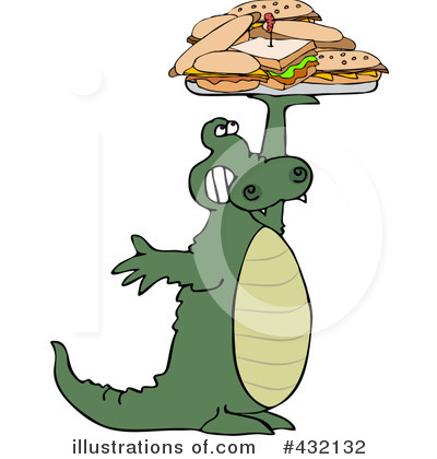 Alligator Clipart #432132 by djart