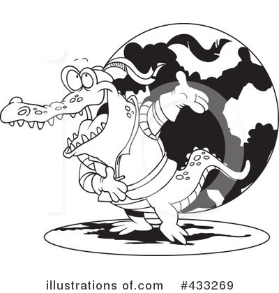 Crocodile Clipart #433269 by toonaday