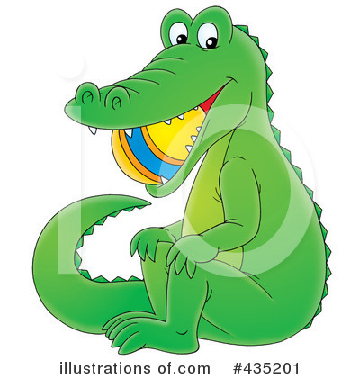 Royalty-Free (RF) Alligator Clipart Illustration by Alex Bannykh - Stock Sample #435201