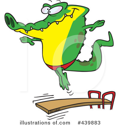 Alligator Clipart #439883 by toonaday
