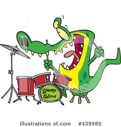 Alligator Clipart #439980 by toonaday